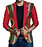 Comfy Men Africa Folk Style Shirt Mulit Color Long Sleeve Blazer 11 3XL