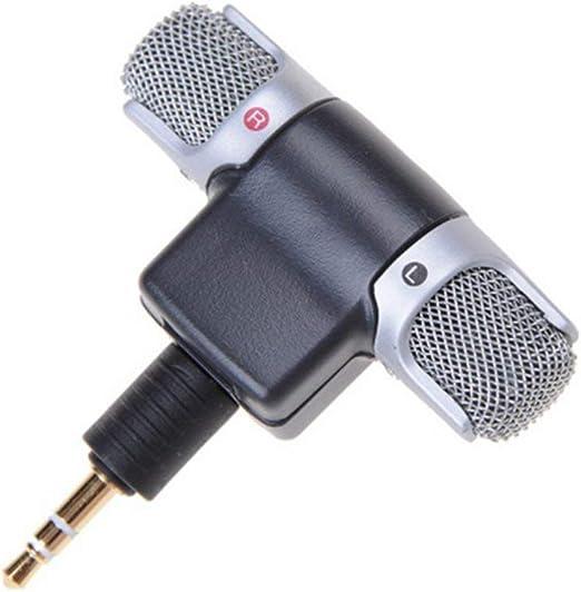 Deniseonuk Mini Jack Microphone Stereo Mic For Recording Mobile Phone Studio Interview Microphone For Smartphone: Amazon.es: Hogar