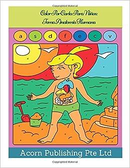 Amazon.com: Color Por Carta Para Niños: Tema Anatomía Humana ...