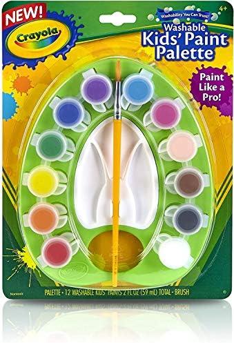 [スポンサー プロダクト]クレヨラ お絵かき 水でおとせるキッズ絵の具 12色 ミニパレットセット ブラシ付き 541062 正規品