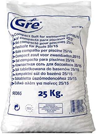 Gre 90365 - Sal Compacta para Piscina, 25 kg