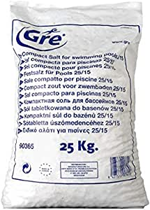 Gre 90365 - Sal Compacta para Piscina, 25 kg: Amazon.es: Jardín