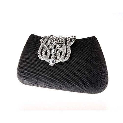 Crystal Purse Wallet Champagne Purse Elegant Clutch Rhinestones Clutch Cocktail Wedding Bag Luxury Evening Ladies Handbag Black Pretty KAXIDY IZwq0R6