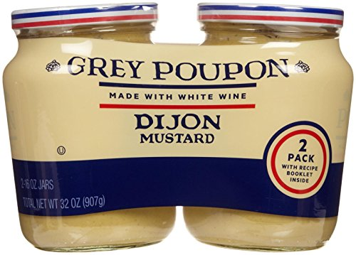 - Grey Poupon Dijon Mustard 2 Pack 16oz each total 32oz