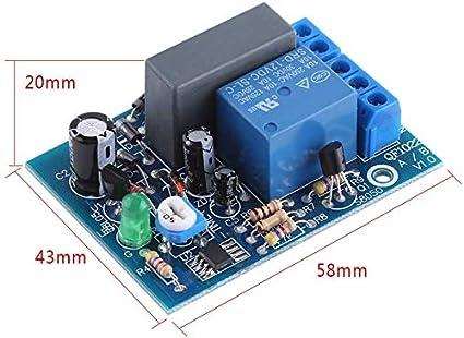 non-brand Module De Relais Interrupteur Temporis/é R/églable 0-10 Secondes Ne555 Minuterie Carte 12v Rouge 12v