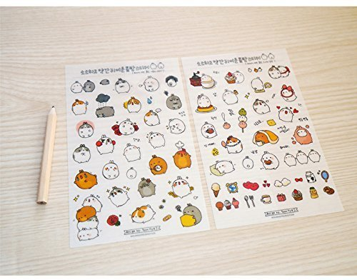 Cute Bunny Rabbit Charactor Sticker Diary Scrap Book Scrapbooking Decor Decoration 6 Sheets Lot Korean Stationery by Cupid Gift Shop by DECO FAIRY (Image #2)