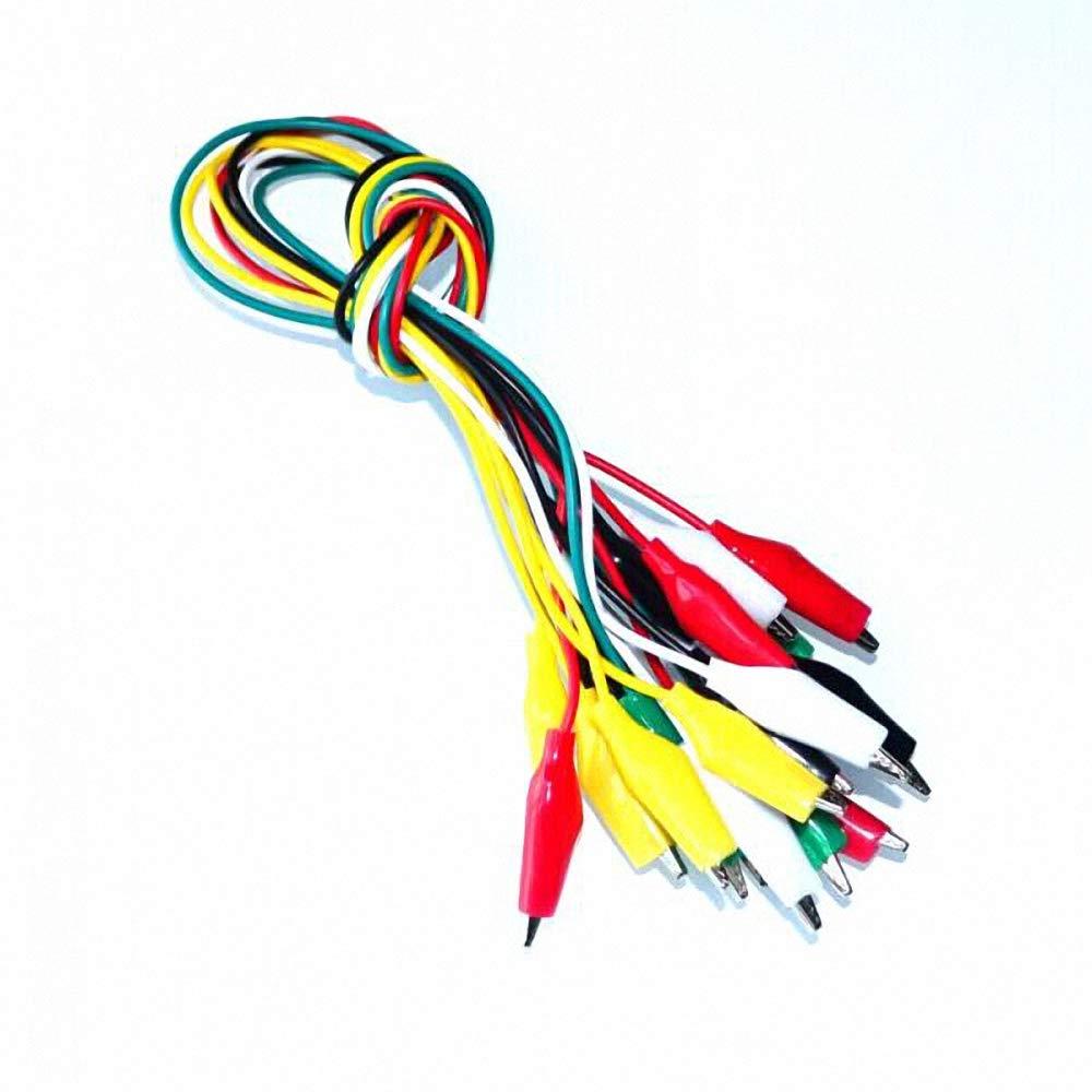 Wholesale 50pcs//lot 46cm Double-Ended Clips Crocodile Cable Alligator Jumper Wire Test Leads