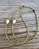 Green Skull Handmade Beaded Eyeglass Chain