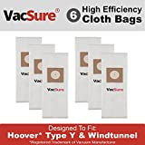 Hoover HEPA Vacuum Bags TYPE Y & Z for Hoover Upright Vacs, By VacSure (6)