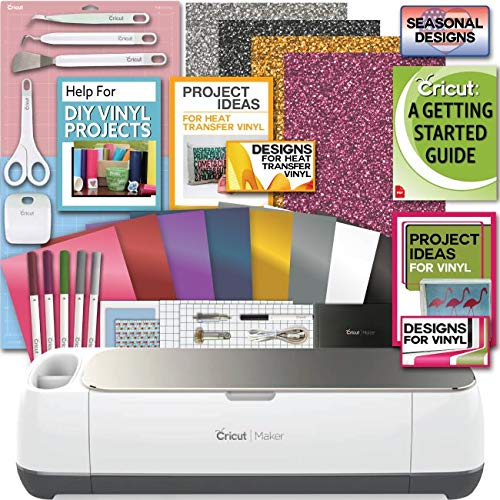 - Cricut Maker Machine Bundle 1 Beginner Cricut Guide Smooth Heat Transfer Permanent Vinyl Tools Designs, Colors may Vary
