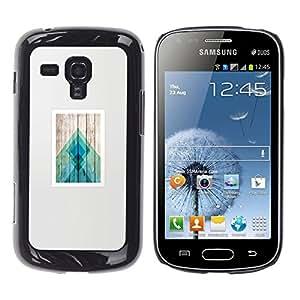 iKiki Tech / Estuche rígido - Poster Wood Polygon Lines Pattern - Samsung Galaxy S Duos S7562