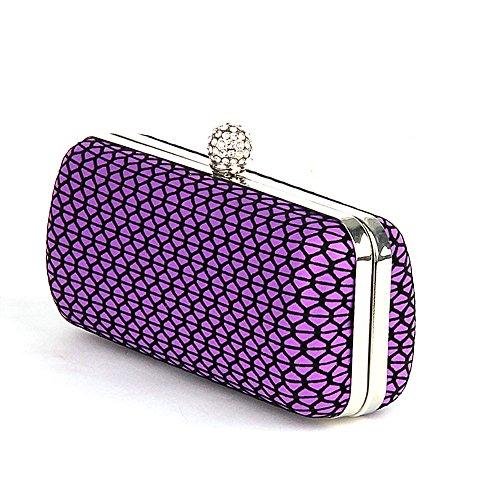 evening femme UNYU pour color Pochette Violet clutch Multi O1qI7d