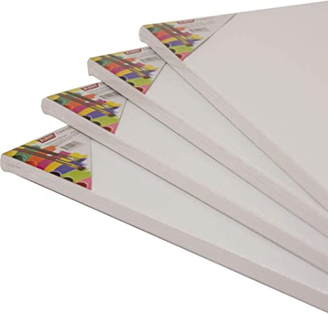 30X30 CM Pack of 2 Square Traditional Depth Stretched Artist Canvas Primed