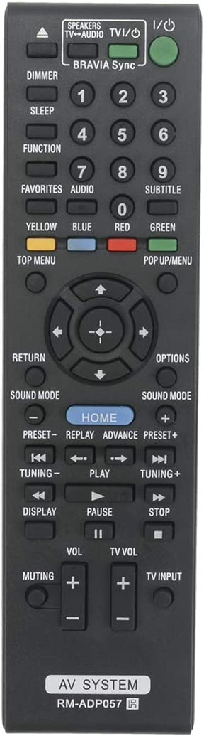New RM-ADP057 Replace Remote Applicable for Sony Blu-ray DVD BDV-E280 BDV-T28 BDV-E980 BDV-E880 BDV-T58 BDV-E580 BDVE280 BDVT28 BDVE980 BDVE880 BDVT58 BDVE580 Home Theater System