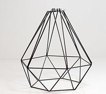Black wire lamp tools diamond wire pendant cage lamp light shade midnight black amazon rh amazon co uk black wire table lamp black wire lamp base keyboard keysfo Images