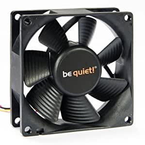 be quiet! SILENT WINGS Pure, 80mm - Ventilador de PC (80mm, 1.14 W, 12 V, Negro, 80 mm, 80 mm, 25 mm)