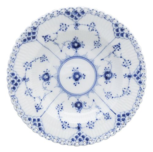 Sauce Lace (Royal Copenhagen Blue Fluted Full Lace Rim Fruit/Dessert (Sauce) Bowl (Second Quality))