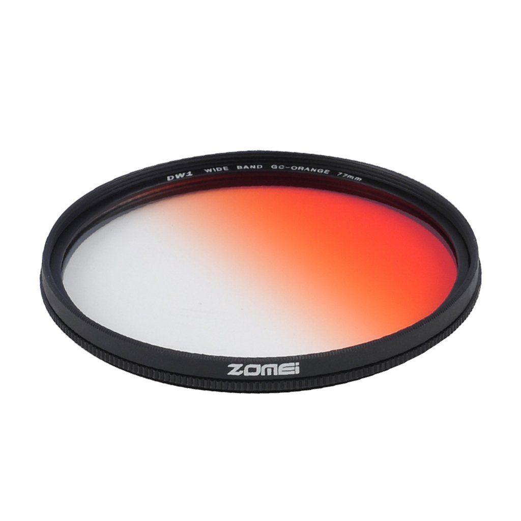 Jili Online Ultra Slim Graduated Gradual ND Lens Filter for DSLR Camera Orange 77mm