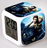 ENJOY LIFE : Cute Digital Multifunctional Alarm Clock With Glowing Led Lights and How To Train Your Dragon sticker, Good Gift For Your Kids , Comes With Bonuses Part 1 (05)