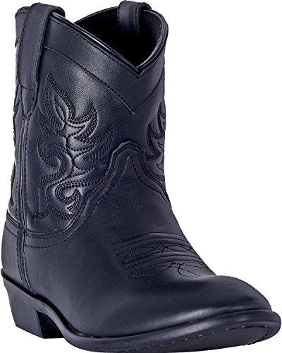 Dingo Women's Willie Leather Short Boot Round Toe Black 7 M