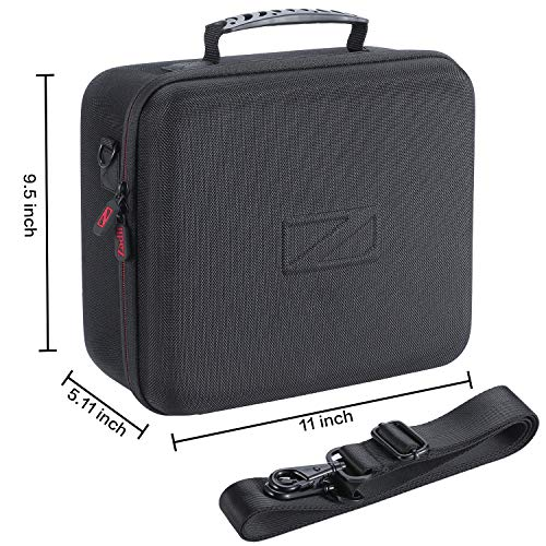 Zadii Hard Carrying Case Compatible with Nintendo Switch System, Travel Case Fit Switch Pro Controller