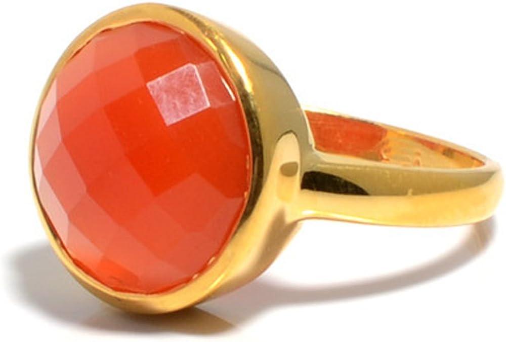 DV Jewels Carnelian Gemstone Matte Ring