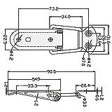 SamIdea(TM) 2-Pack Box Chest Case Spring Loaded