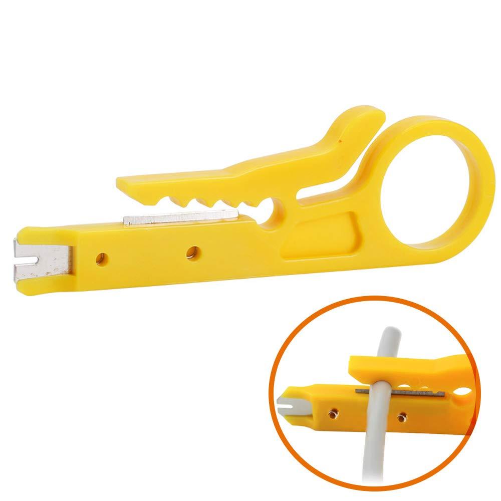 Sadasdsadf Stripping Pliers, 10pc Mini Portable Stripping Knife Crimping Pliers Crimping Cable Stripping Pliers Multi-Tool tangential Pliers Multi-Tool by Sadasdsadf