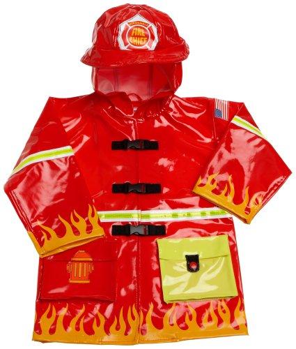 Kidorable Toddler/Little Kid Fireman Raincoat, Red, 4 5