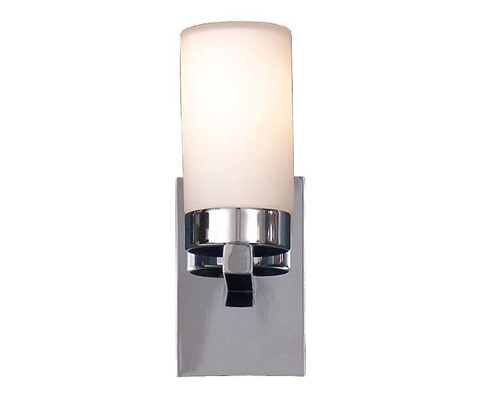 Esto chromo h190 applique per bagno in vetro di forma cilindrica