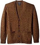 Pendleton Men's Shetlland Cardigan Sweater, Beaver Marl, XXL