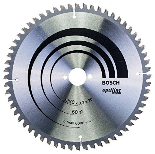Bosch Zubehör 2608640644 Kreissägeblatt Optiline Wood 250 x 30 x 3,2 mm, 60