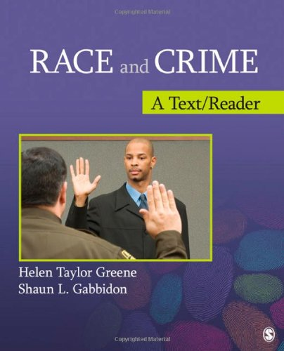 Books : Race and Crime: A Text/Reader (SAGE Text/Reader Series in Criminology and Criminal Justice)