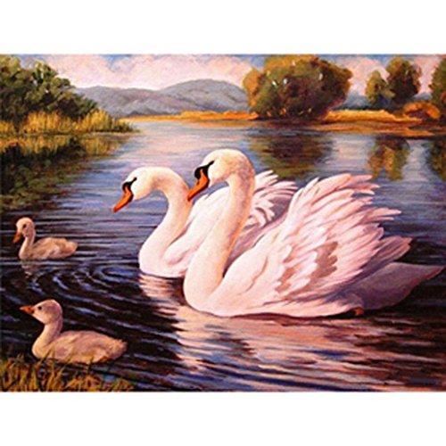 angel3292 Lake Swans DIY Embroidery Cross Stitch Art 5D Diamond Painting Home Wall Decor
