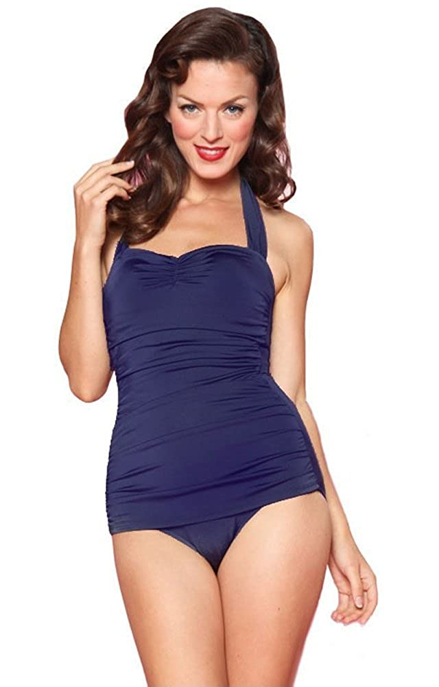 b680207723c Esther Williams Women s 50 s Pin Up Swimsuit at Amazon Women s Clothing  store  Fashion One Piece Swimsuits