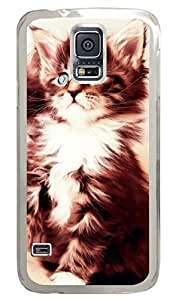 Cat 28 Clear Hard Case Cover Skin For Samsung Galaxy S5 I9600