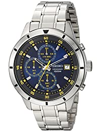 Seiko Men's Quartz Stainless Steel Casual Watch, Color:Silver-Toned (Model: SKS575)