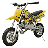 49cc 50cc 2-Stroke Gas Motorized Mini Dirt Pit Bike (Yellow)