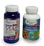 Garcinia Cambogia 80% HCA + Forskolin 2000mg Extract Appetite Suppressant All-Natural Ingredients Advanced Weight Management Formula