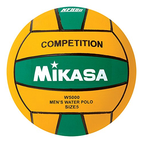 Mikasa W5000GRE Competition Game Ball, Green/Yellow, Size 5