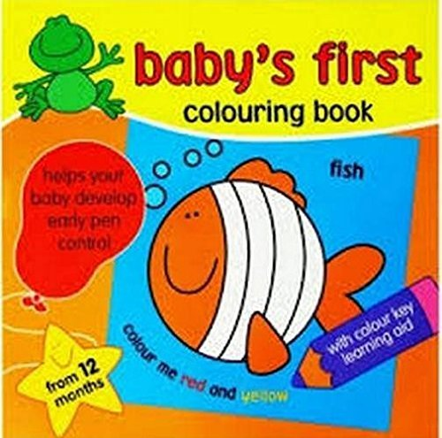 Babys First Colouring Book Amazoncouk Toys Games