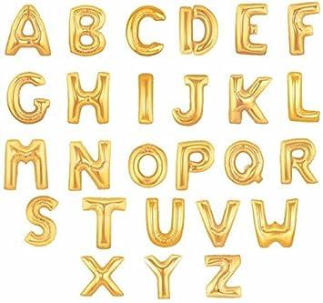 hihaoxj 40 inch helium foil mylar matte gold letter balloons 40 inch letter b