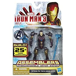 Marvel Iron Man 3 Avengers Initiative Assemblers Interchangeable Armor System Stealth Tech Iron Man Figure