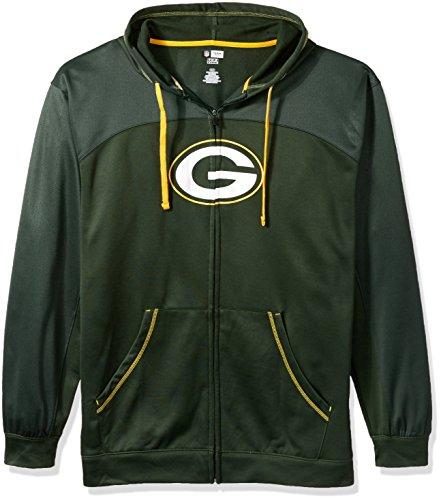 NFL Green Bay Packers Men FULL ZIP HOODIE, DKGRN/GOLD, -