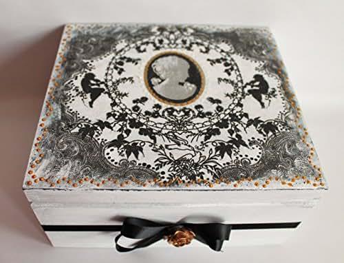 Amazon.com: Jewelry box, Mother's Day gift, decoupage box ...