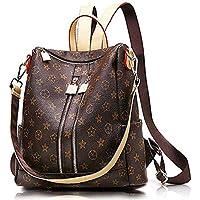 PARADOX (LABEL) Girls Travel Fashion PU Backpack (Brown) (Medium)