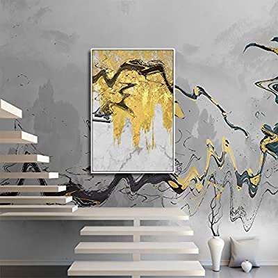 Framed Canvas Wall Art for Living Room, Bedroom Gold Palette Abstract Painting IX Canvas Prints for Home Decoration Ready to Hang - 24x36 inches