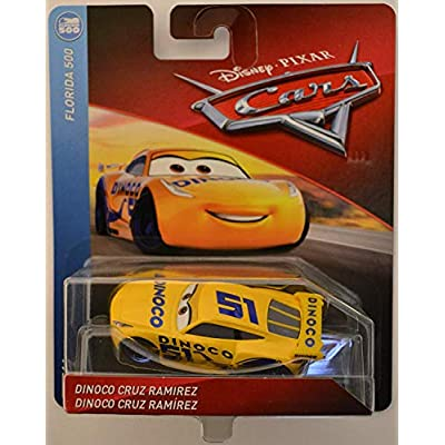 Disney/Pixar Cars Dinoco Cruz Ramirez Florida 500 Series 1:55 Scale Collectible Die Cast Model Car: Toys & Games