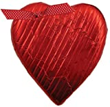Traverse Bay Confections Red Foiled Milk Chocolate Heart, 2.5-Ounce (Pack of 6)
