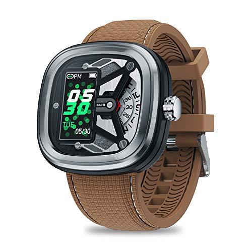 XXF Smart Fitness Tracker, Gemütlich Edelstahl Wasserdicht Bluetooth Smart Watch Mit Pedometer IPS-Display-Bildschirm Für Eine Frau Einen Mann Kinder,A
